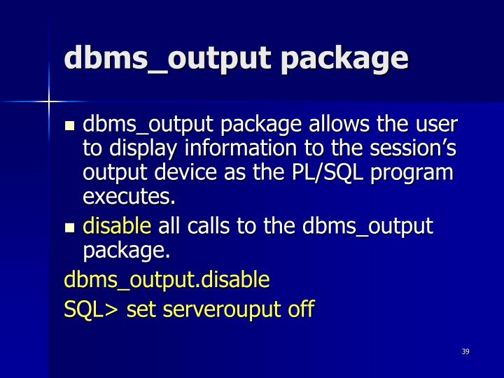 dbms_output package