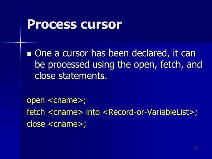 Process cursor