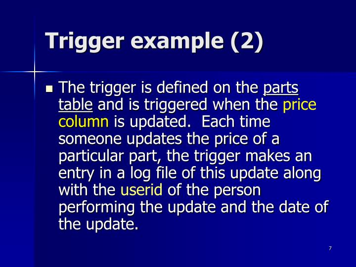 Trigger example (2)