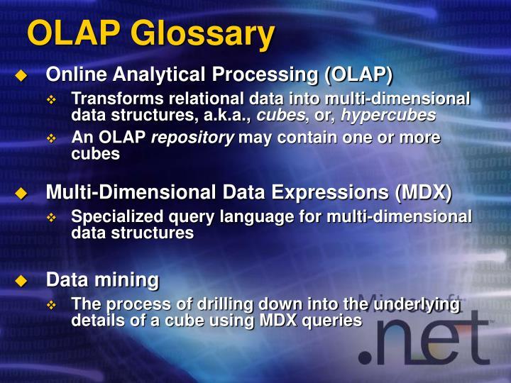 OLAP Glossary