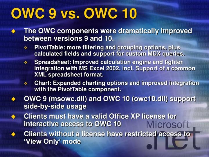 OWC 9 vs. OWC 10