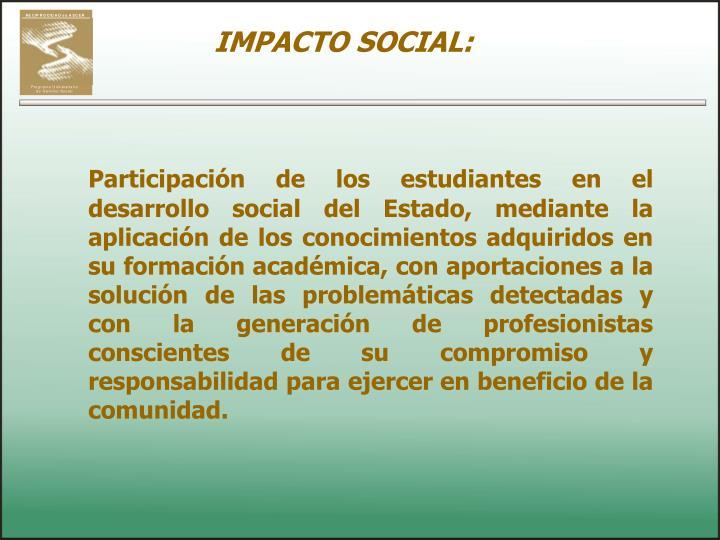 IMPACTO SOCIAL: