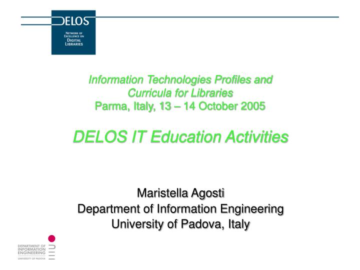 Information Technologies Profiles and