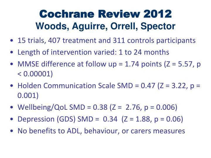 Cochrane Review 2012