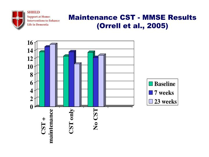 Maintenance CST - MMSE Results