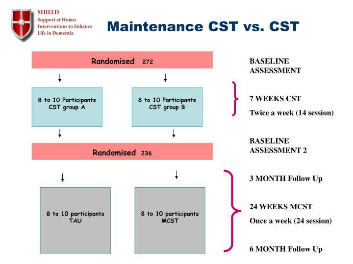 Maintenance CST vs. CST