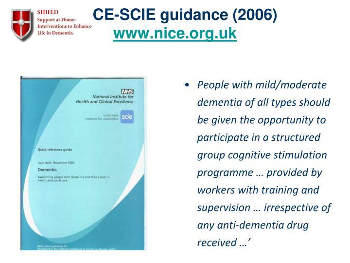 NICE-SCIE guidance (2006)