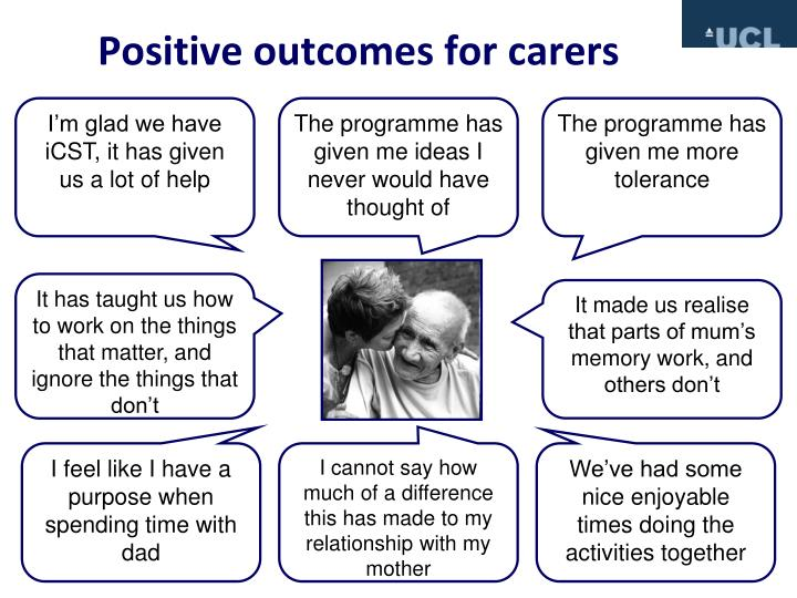Positive outcomes for carers