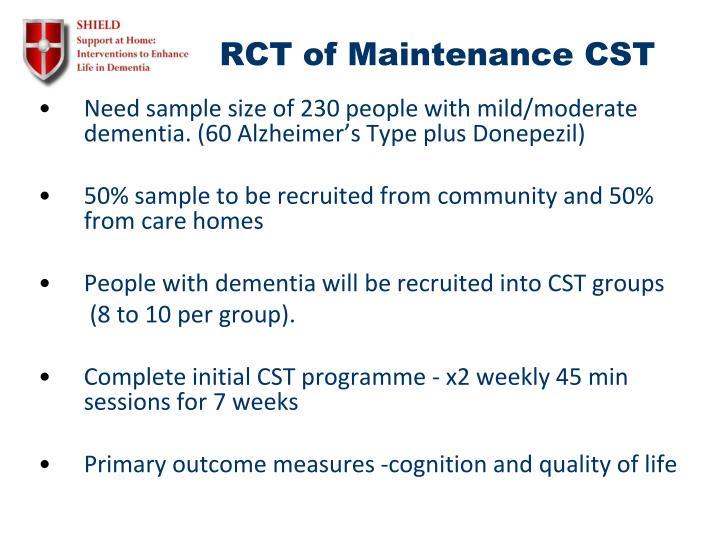 RCT of Maintenance CST