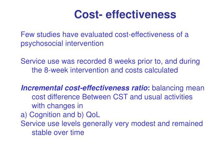 Cost- effectiveness
