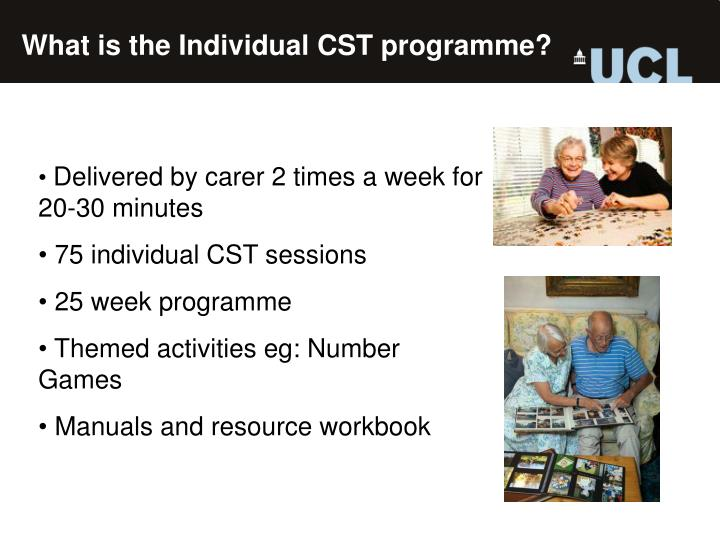 What is the Individual CST programme?