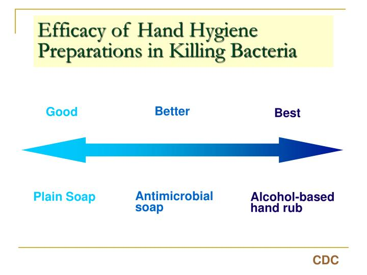 Efficacy of Hand Hygiene Preparations in Killing Bacteria