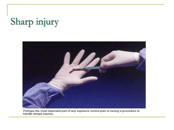 Sharp injury