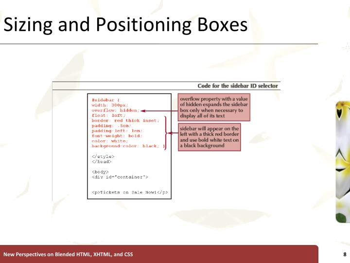 Sizing and Positioning Boxes