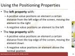 using the positioning properties3