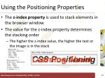using the positioning properties5