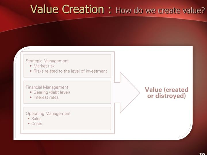 Value Creation :