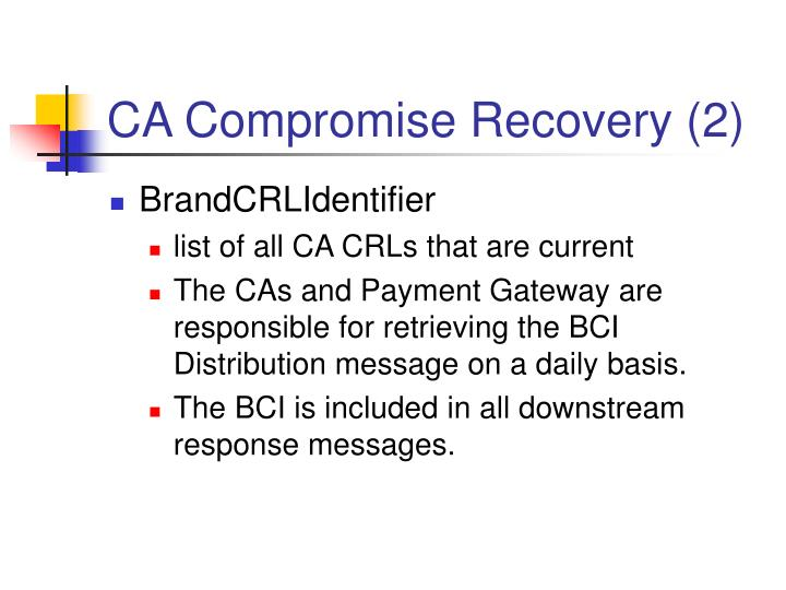 CA Compromise Recovery (2)