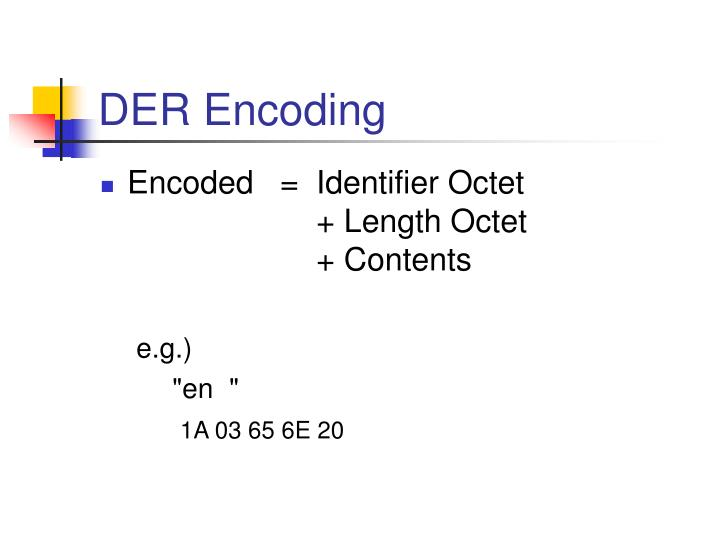 DER Encoding