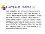 example of pinitreq 3