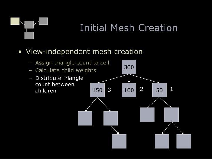 Initial Mesh Creation