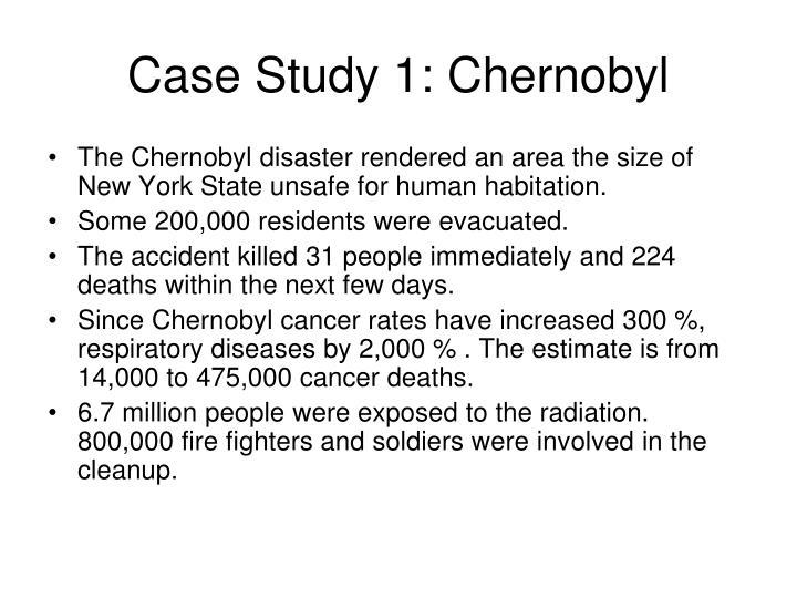 Case Study 1: Chernobyl