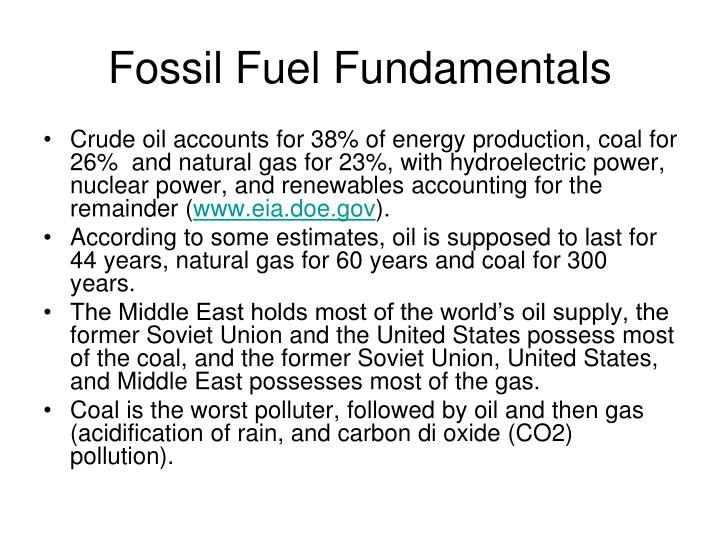 Fossil Fuel Fundamentals