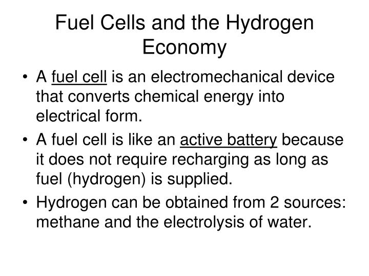 Fuel Cells and the Hydrogen Economy