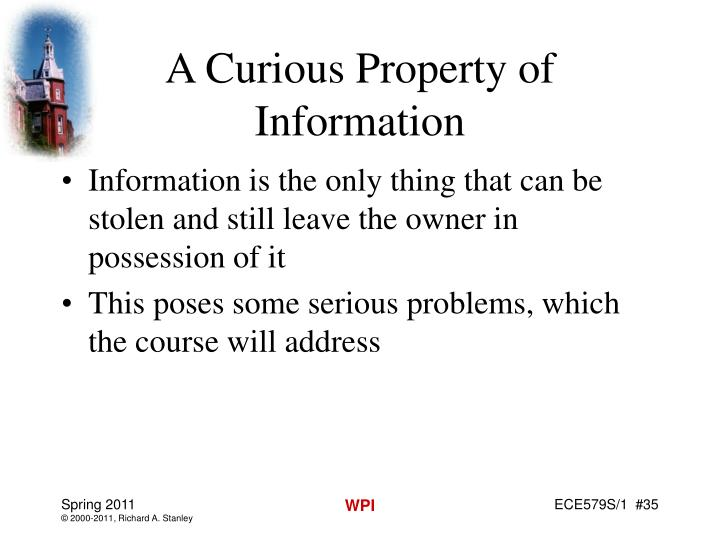 A Curious Property of Information