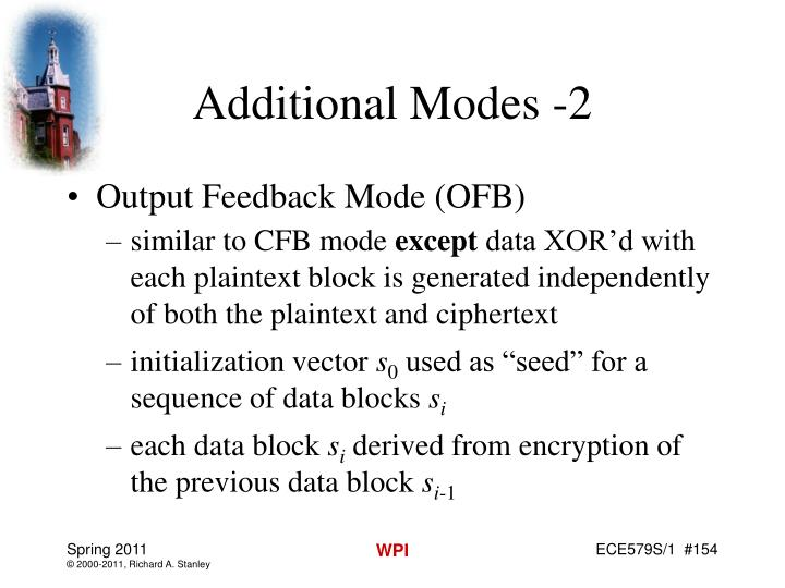 Additional Modes -2