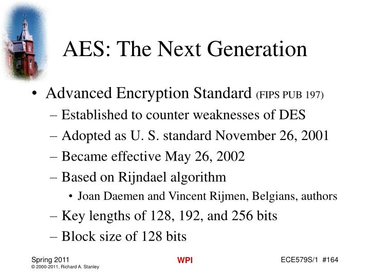 AES: The Next Generation