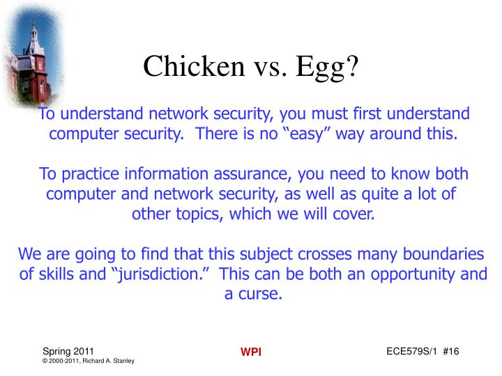 Chicken vs. Egg?