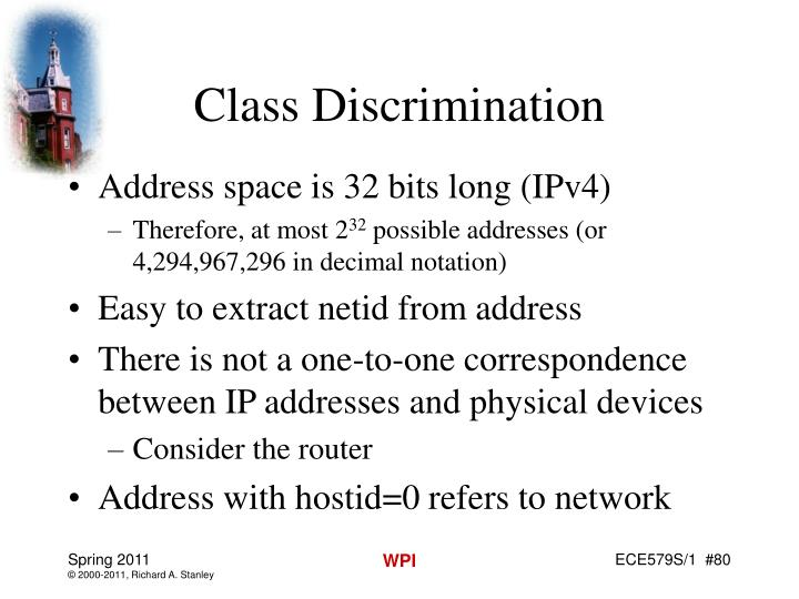 Class Discrimination
