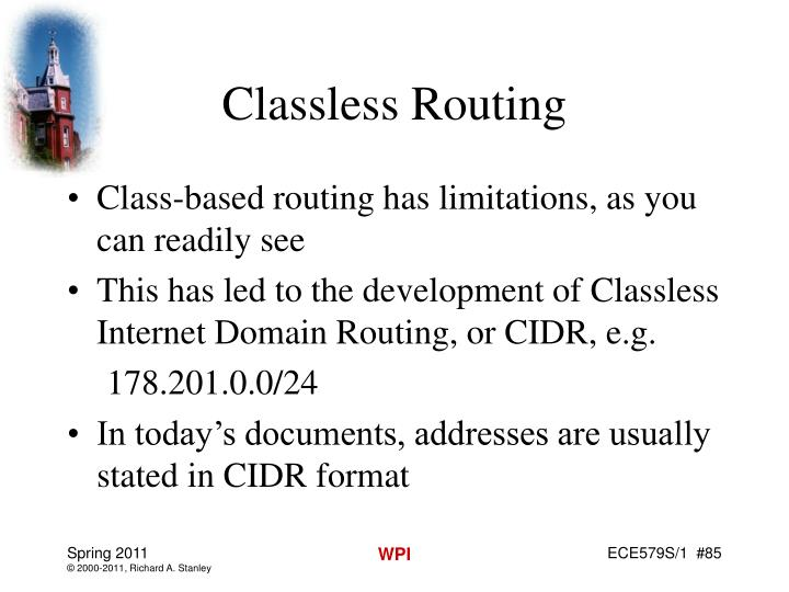 Classless Routing