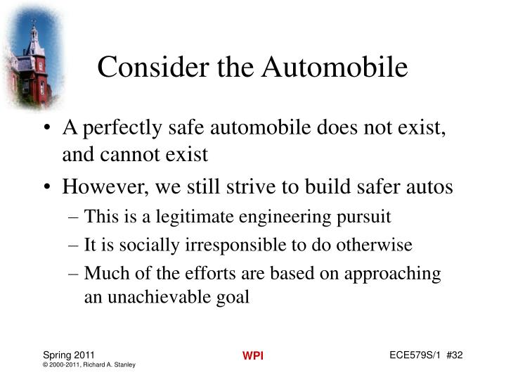 Consider the Automobile