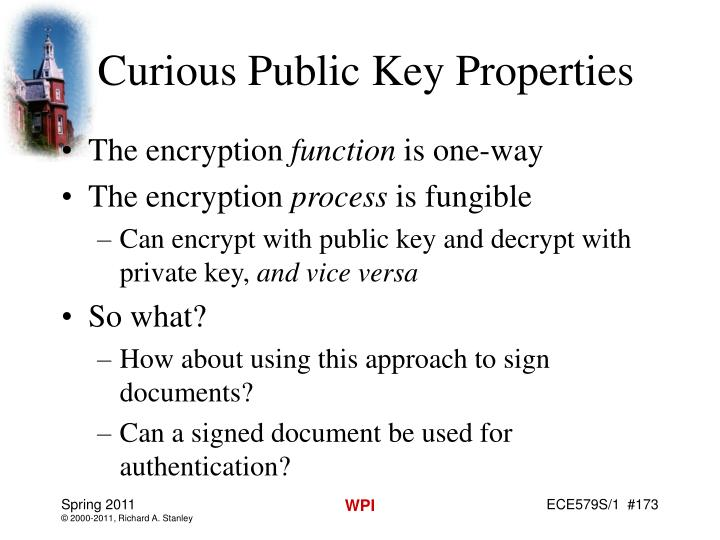 Curious Public Key Properties