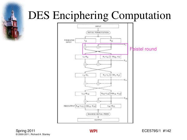 DES Enciphering Computation