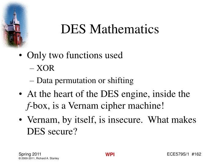 DES Mathematics