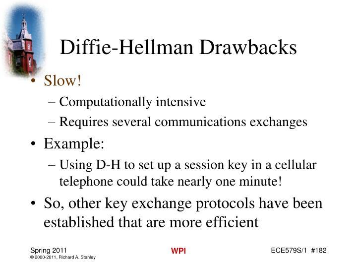 Diffie-Hellman Drawbacks