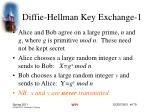 diffie hellman key exchange 1
