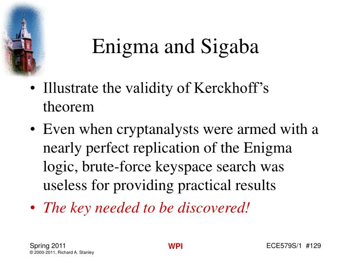 Enigma and Sigaba