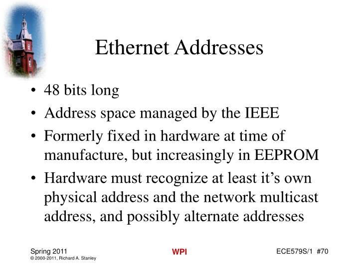 Ethernet Addresses
