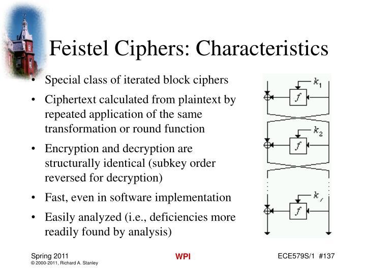 Feistel Ciphers: Characteristics