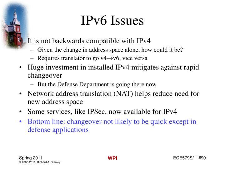 IPv6 Issues