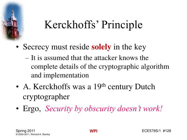 Kerckhoffs' Principle