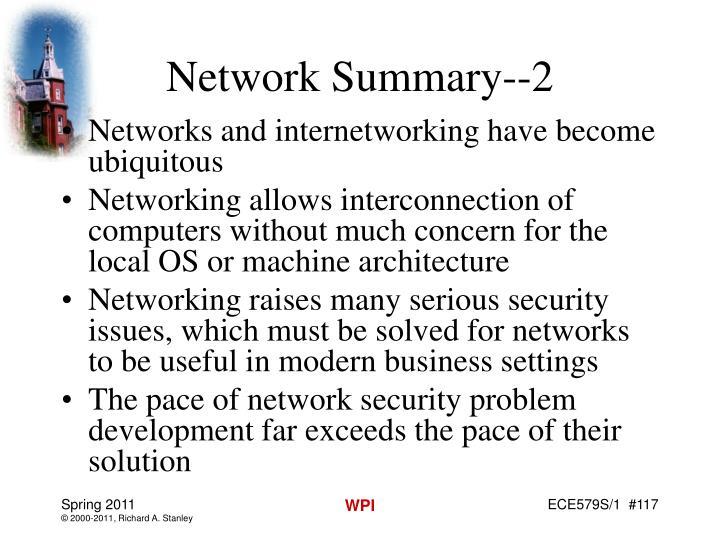 Network Summary--2