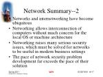 network summary 2