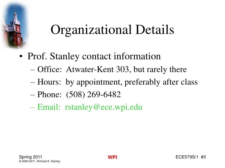 Organizational Details