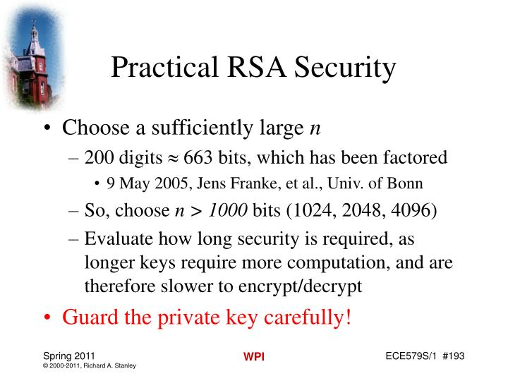 Practical RSA Security
