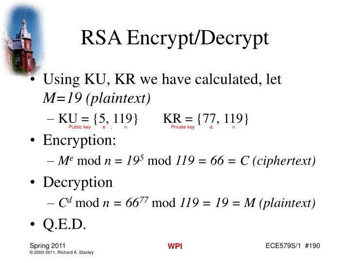 RSA Encrypt/Decrypt
